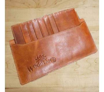 Wood Land Leather Wallet for Men