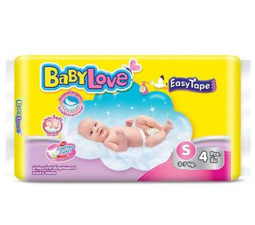 Baby Love-Easy Tape-Trial Pack- 4pcs (3-7 kg)