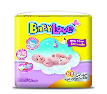 Baby Love-Easy Tape-Jumbo Pack-56pcs (up to 5 kg)