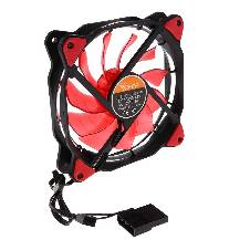 3-Pin/4-Pin 120mm PWM PC Computer Case CPU Cooler Cooling Fan With Red LED - Red