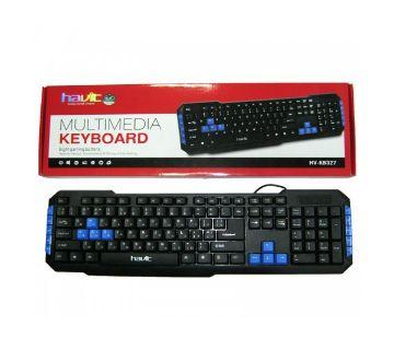 HV-KB327 Multimedia Keyboard - Black