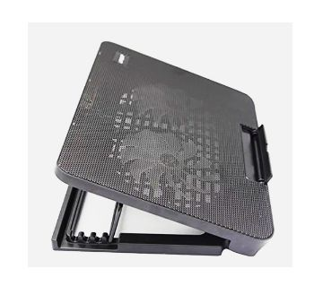 Laptop Cooling Pad N99 With 2 Dual Fan (Black)