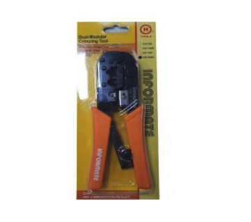 MODULAR CRIMPING TOOL INFORMATE RJ45, RJ11 WITH CABLE CUTTER