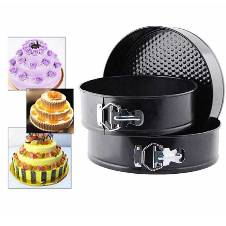 ROUND SHAPE CAKE MOULD - 3 Pieces
