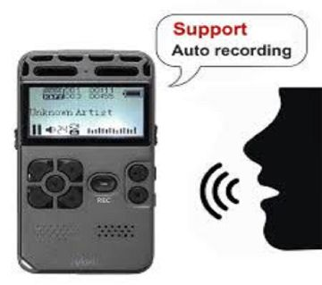 Digital Voice Recorder Audio Recording Dictaphone MP3 LED Display Voice Activated 8GB