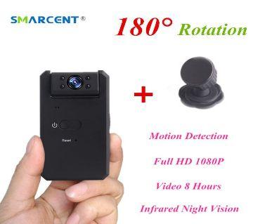 MD90 Mini Camara 1080P Infrared Night Vision Mini Camcorder with 180 Degree Rotation Motion Detection