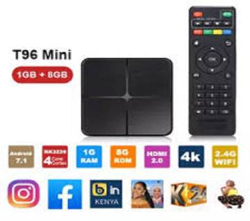 T96 Mini Smart TV Box - Black 1GB+8GB