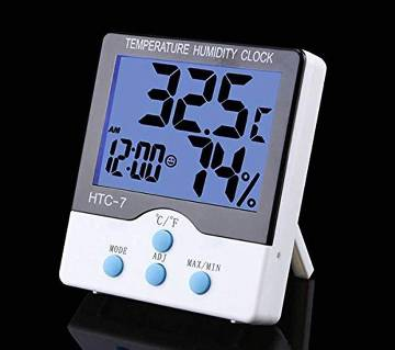 LCD temparature humidity clock