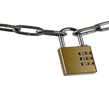 lock and key - gold