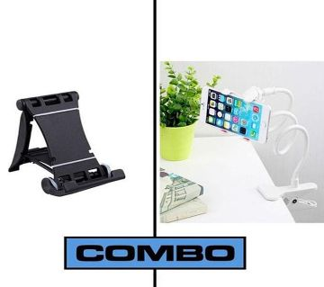 Combo of Multi Mobile Tablet Stand & 360 Rotate Mobile and Tablet Stand - Black & Red