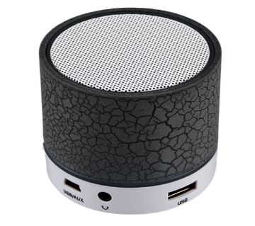 Mini Portable Bluetooth Speaker With Built-in Mic and LED Light  Black