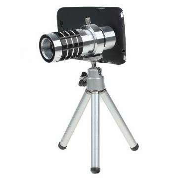 Universal 12X Zoom Telescope ক্যামেরা লেন্স - White