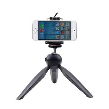 YunTeng 228 Mini Tripod with Phone Holder Clip for