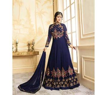 Semi Stitched Georgette Gown With Embroidery Work (Copy)