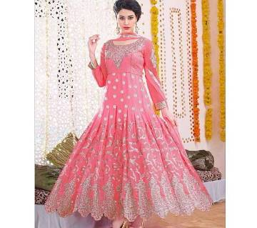 Unstitched Embroidery Georgette Long Suit (Copy)