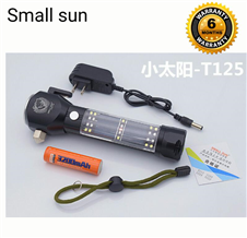 Multifunction Rechargeable Survival Flashlight With Solar Charger
