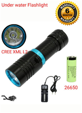 Under water rechargeable  flashlight
