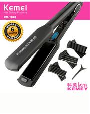 Kemei 3in1 digital  hair straightener and curling