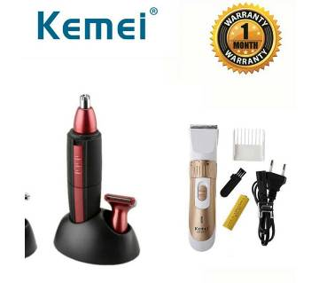 Kemei 2in1 Shaver & Trimmer Combo Pack