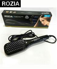 Rozia hair straightener brush with LCD display