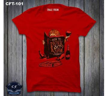 FRIENDS RED Half Sleeve Cotton T-shirt For Men