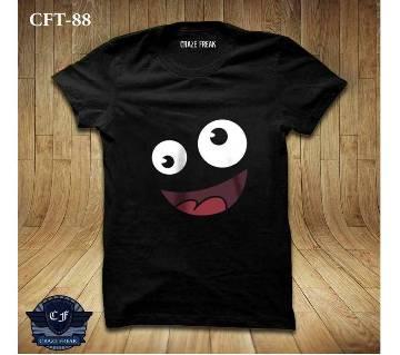 FUNKY BLACK Half Sleeve Cotton T-shirt For Men