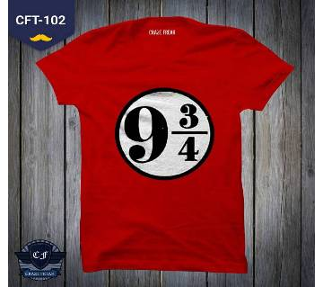 STATION NO RED COTTON T-SHIRT