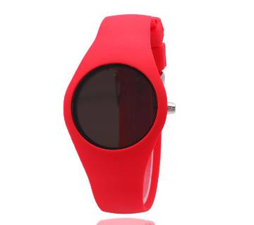 Silicon Band Digital Led Watch  Red