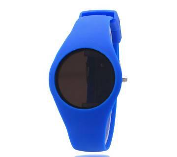 Silicon Band Digital Led Watch Blue