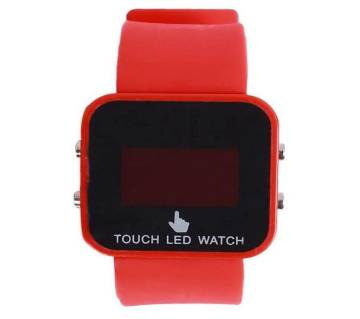 Rubber Strap LED Digital Watch Red