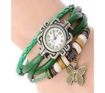 Bracelet Type Wrist Watch For Women-Green