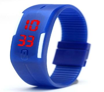 Blue Silicon Sports Watch