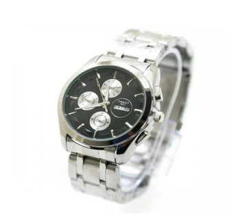 Tissot Gents Wrist Watch Copy -Black & Silver