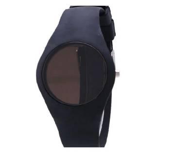 Silicon Band Digital Led Watch  Black