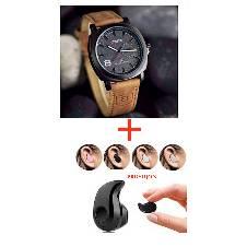 CURREN Gents Wrist Watch (copy)+BLUETOOTH EARPHONE  Combo Offer