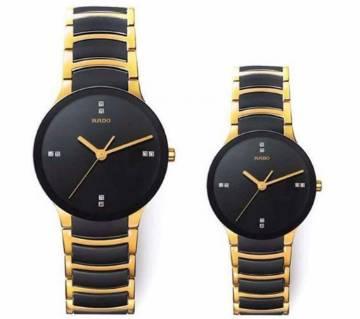 Rado Couple Watch (Copy) Black & Gold