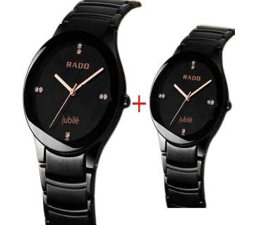 Rado Stainless Steel Couple Watch-Black (Copy)