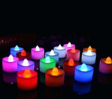 Led tea light candle 3 pieces - Multicolour