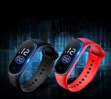 Waterproof Touch Screen Sports Watch( 2 Pieces)- Black & Red