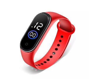 Waterproof touch screen sports digital watch  - Red