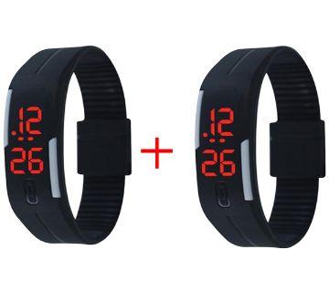 LED Sports Watch Black