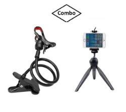 Rotating Mobile Stand & Mini Tripod Combo