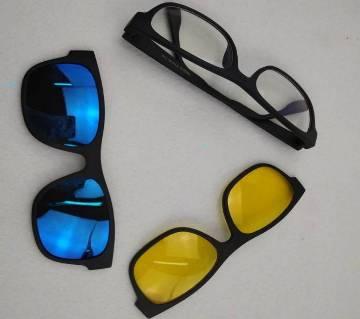 3 in 1 Magic Vision সানগ্লাস উইথ নাইট ভিশন গ্লাস