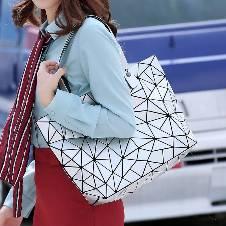 Laser Geometric Handbag Colors শোল্ডার ব্যাগ ফর গার্লস