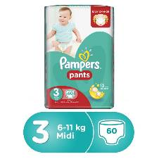 Pampers Pants Diapers, Size 3, 6-11 Kg, 60 Pcs