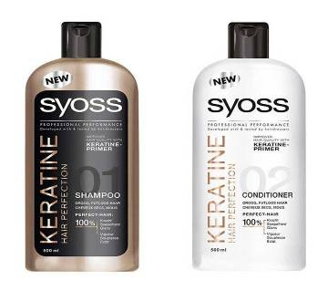 SYOSS Keratine Hair Perfection Shampoo+Conditioner Combo Pack- Tunisia