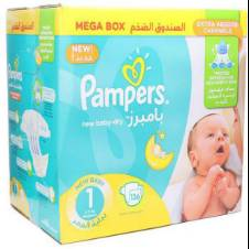 Pampers New Baby Dry Jumbo Box Size-1 Mini (2-5 KG) 136 Diapers