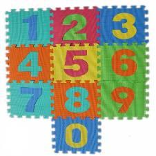Multicolor Foam Floor Puzzle Mat Kids - 10 Pcs