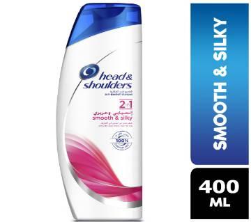 Head & Shoulders Smooth and Silky 2in1 Anti-Dandruff Shampoo - 400ml - Saudi Arabia