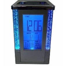 Table Digital LED Clock Pen Holder - Blue